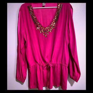 🌺 Cache Silk Blouse 🌺
